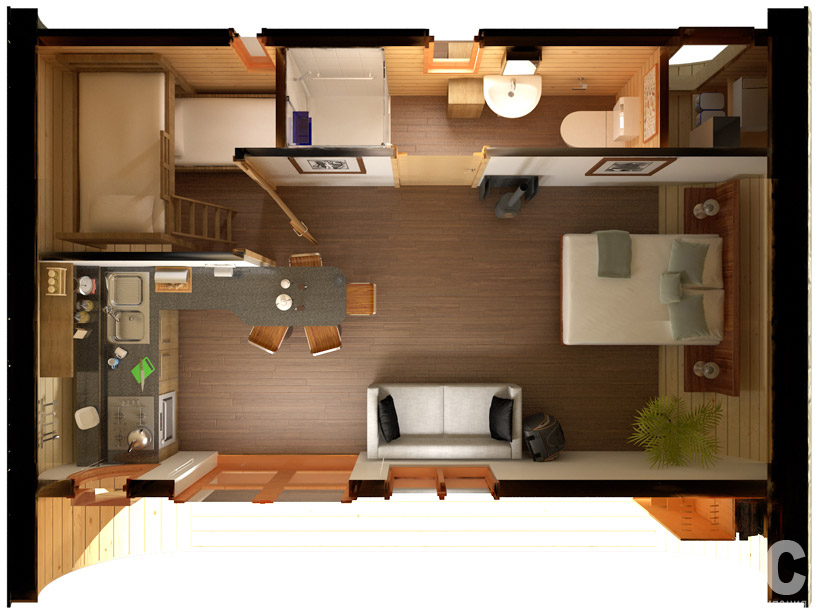 Дизайн проект маленького дома