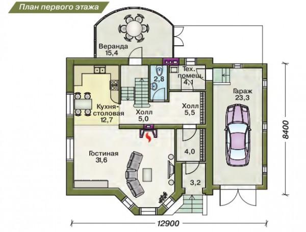 Описание дома: -Фундамент: из сборных ж/б -Наружные стены: из