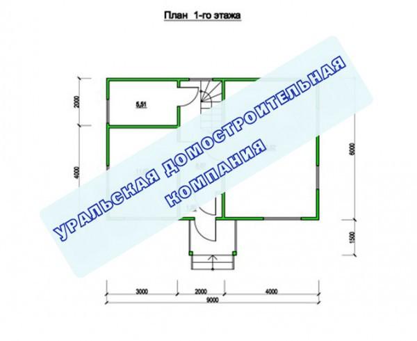 Типовой проект коттеджа ТК-92 (6,0x9,0 м)