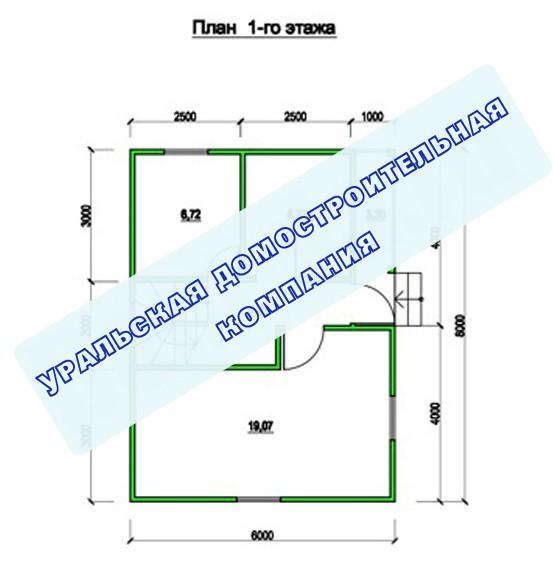 Типовой проект коттеджа ТК-83 (8x7 м)