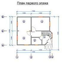 Дом из бруса ДБ-79 (6,0x7,0 м)