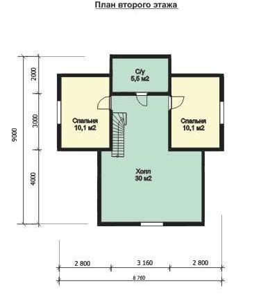 Дом из бруса ДБ-132 (10,79x8,76 м)