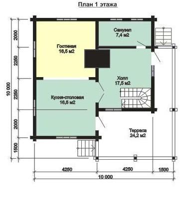 Дом из бруса ДБ-149 (10x10 м)