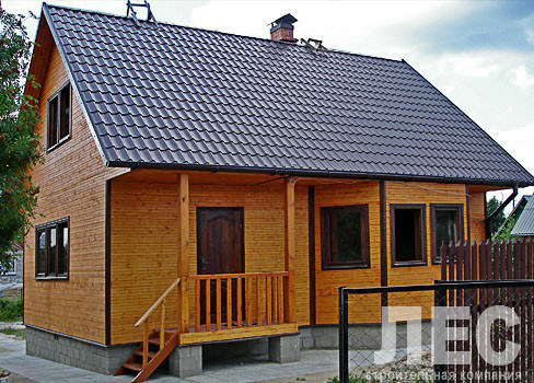 Дом из  бруса  200х200 мм.ДБ-90 (6,0x9,0 м)