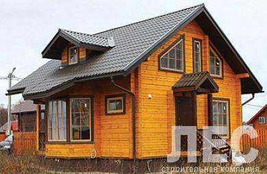 Дом из бруса ДБ-98-3 (7x7,9 м)
