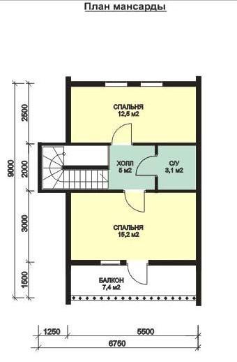 Дом из бруса ДБ-116 (10,0 x9,5 м)