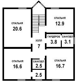 Дом из бруса ДБ-173