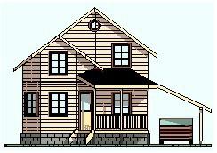 Дом из бруса ДБ-77 (6x7 м)