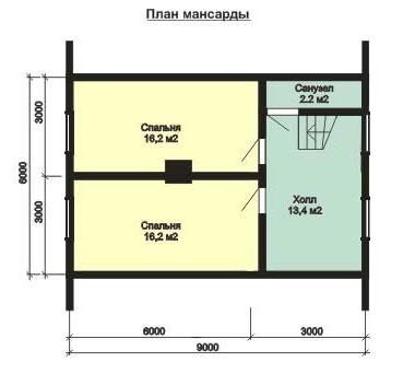 Дом из бруса 150х200 ДБ-105 (8,0x9,0 м)