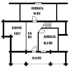 Дом из оцилиндрованного бревна ОБ-123 (9x10 м)