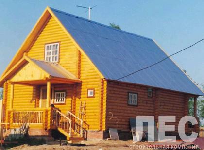 Дом из оцилиндрованного бревна ОБ-155 (10,7x8,3 м)