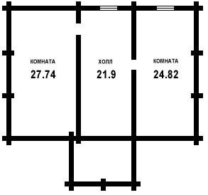 Дом из оцилиндрованного бревна ОБ-156-2 (10,6x7,3 м)