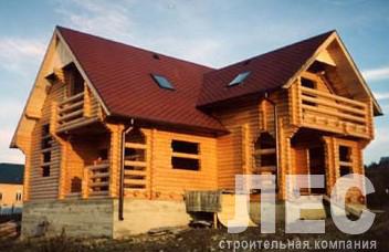 Дом из оцилиндрованного бревна ОБ-167 (10x12,7 м)