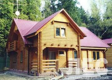 Дом из оцилиндрованного бревна ОБ-171 (11,6x11,5 м)