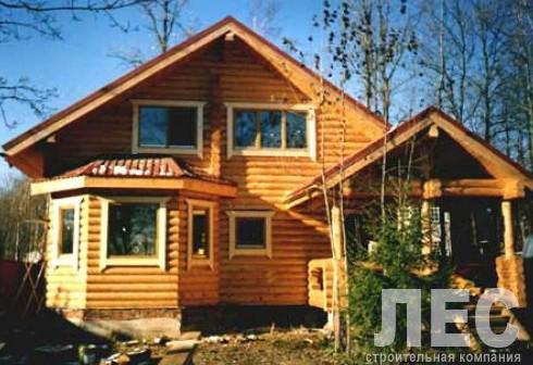 Дом из оцилиндрованного бревна ОБ-156 (10,8x11,7 м)
