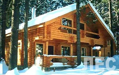 Дом из оцилиндрованного бревна ОБ-186-2 (10,4x11,4 м)