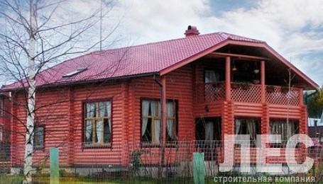 Дом из оцилиндрованного бревна ОБ-233 (10x15,5 м)