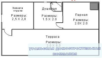 Баня из  бруса БН-24-6 (4x6 м)