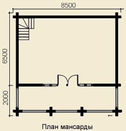 Баня из оцилиндрованного бревна Д.240 мм БН-3 (8,5x8,5 м)