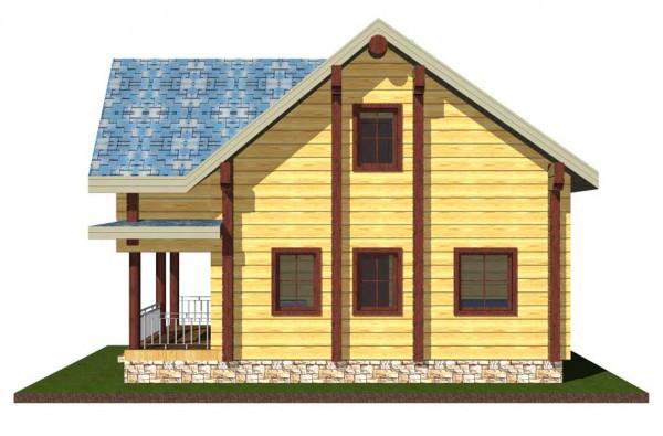 Дом из бруса 200х200 размер 10х8