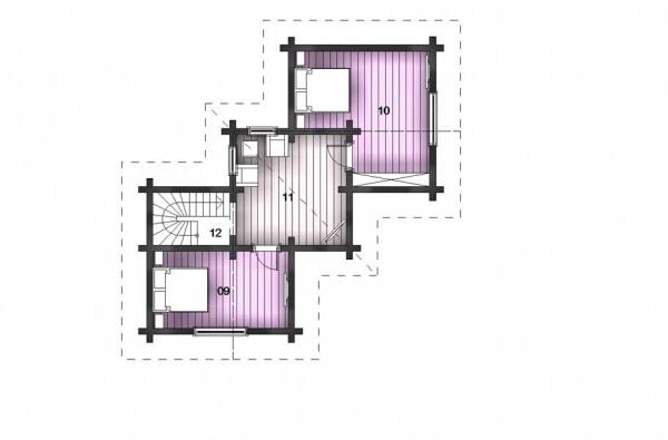 Дом из бруса 200х200 мм, 9х9 м, со вторым этажом