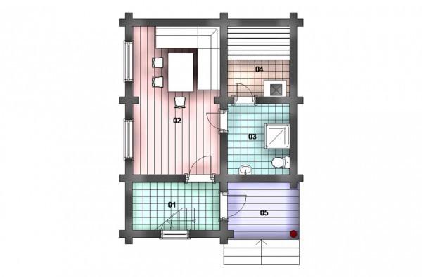 Дом из оцилиндрованного бревна   с 2 этажом.