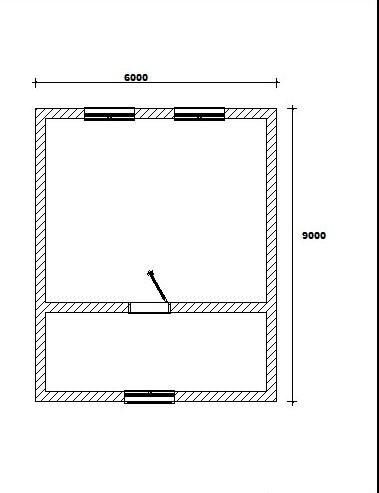 Дом из бруса 150х200 мм. 6х9 ДБ 1 (с мансардным этажом.)