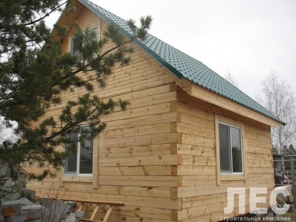 Дом из бруса 150х200 мм, 6х6 м ДБ 10 (с мансардным этажом)