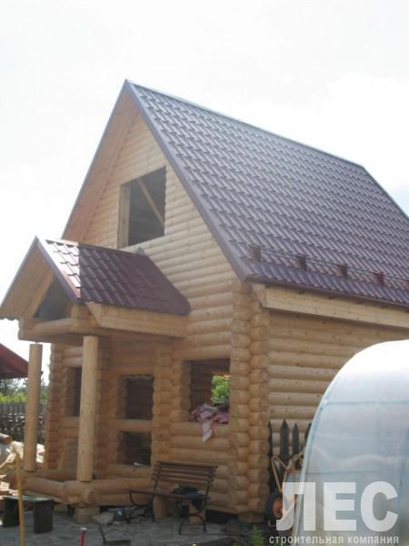 Дом из оцилиндрованого бревна 6х6 м