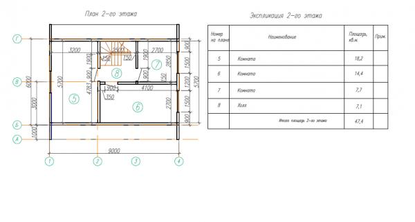 Дом из строгоного   бруса  150х200 мм.ДБ-90 (6,0x9,0 м)