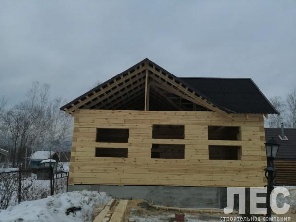 Дом из строганного бруса 200х200 мм, 10х8 м
