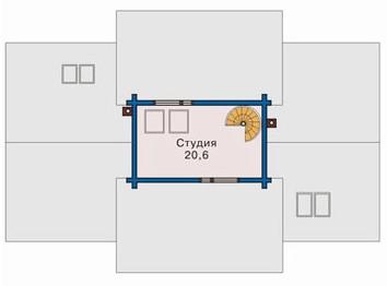 Коттедж из бруса КБ-12 (16,7x11 м)