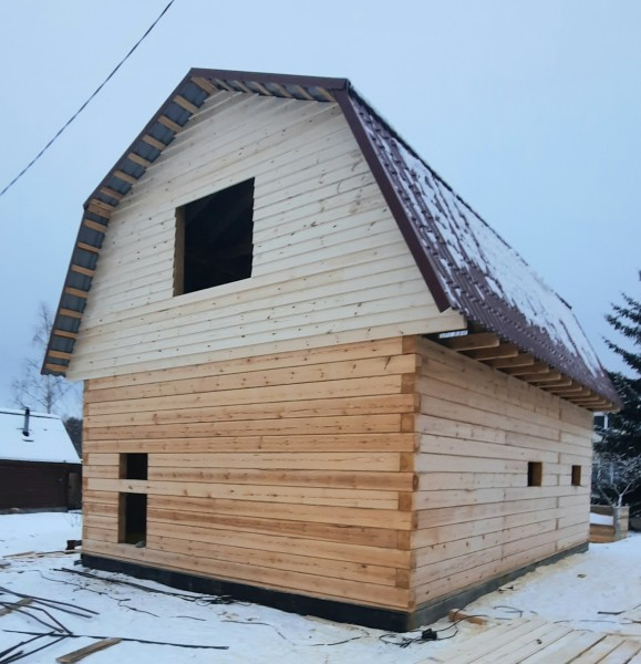 Дом из строганого бруса 6х9