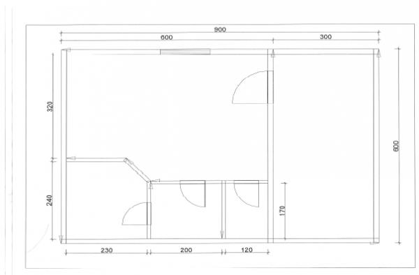 Баня из бруса 6х6 с верандой  3х6. ББ-13.