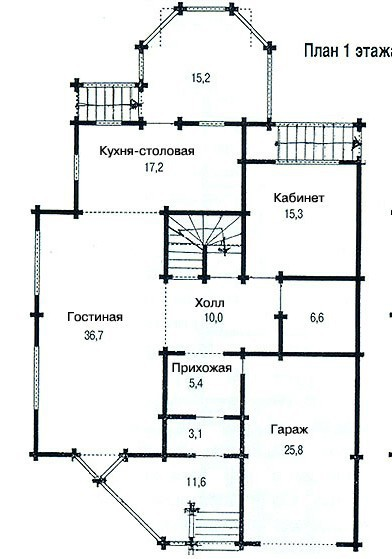 Коттедж из бруса КБ-31