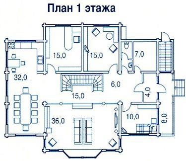 Коттедж из бруса КБ-32