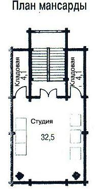 Коттедж из бруса КБ-34