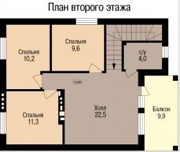 Кирпичный коттедж КК-118 (8,26x10,48 м)