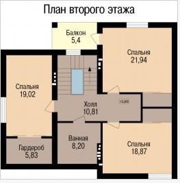 Кирпичный коттедж КК-184 (10,01x11,98 м)