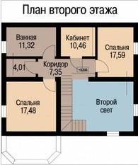 Кирпичный коттедж КК-175-2 (12,0 x12,5 м)
