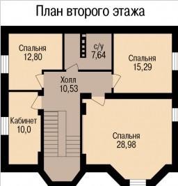 Кирпичный коттедж КК-283 (9,10 x14,46 м)