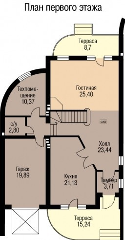 Кирпичный коттедж КК-248