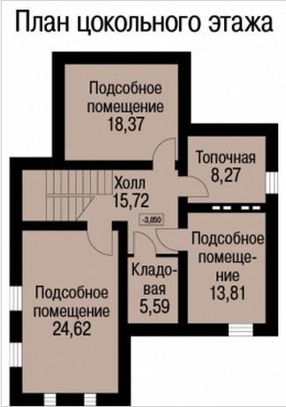 Кирпичный коттедж КК-242 (13,42x10,22 м)