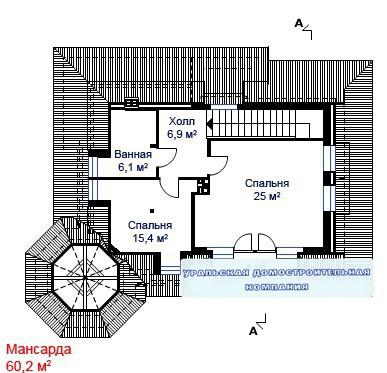 Кирпичный коттедж КК-275 (13,1x11,8 м)
