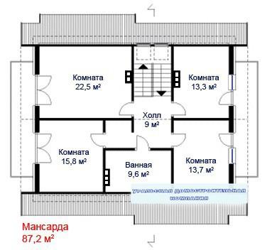 Кирпичный коттедж КК-269 (9,5x11,6 м)