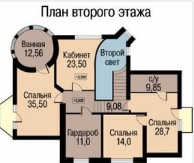 Кирпичный коттедж КК-358 (21,12x17,42 м)