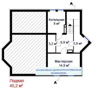 Дом из пеноблоков ПБ-325 (10,2x13,7 м)