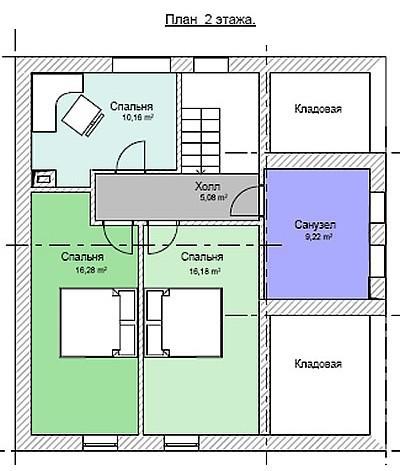 Дом из пеноблоков ПБ-144
