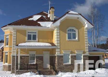 Дом из пеноблоков ПБ-254 (12,40x16,10 м)