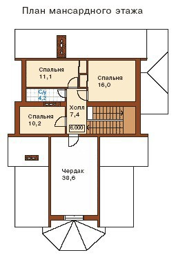 Дом из пеноблоков ПБ-360  (12,60x16,20 м)